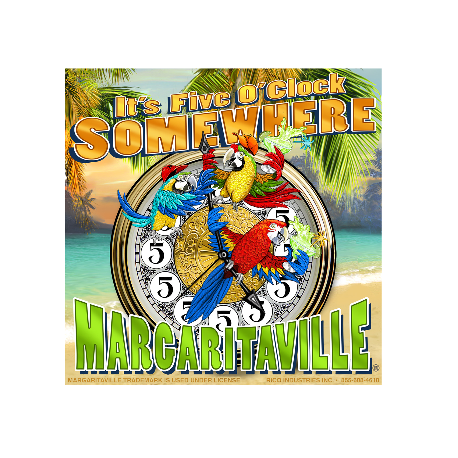 16a74d8740ace FIVE O CLOCK WOOD CRATE 4X4 - Margaritaville Apparel Store