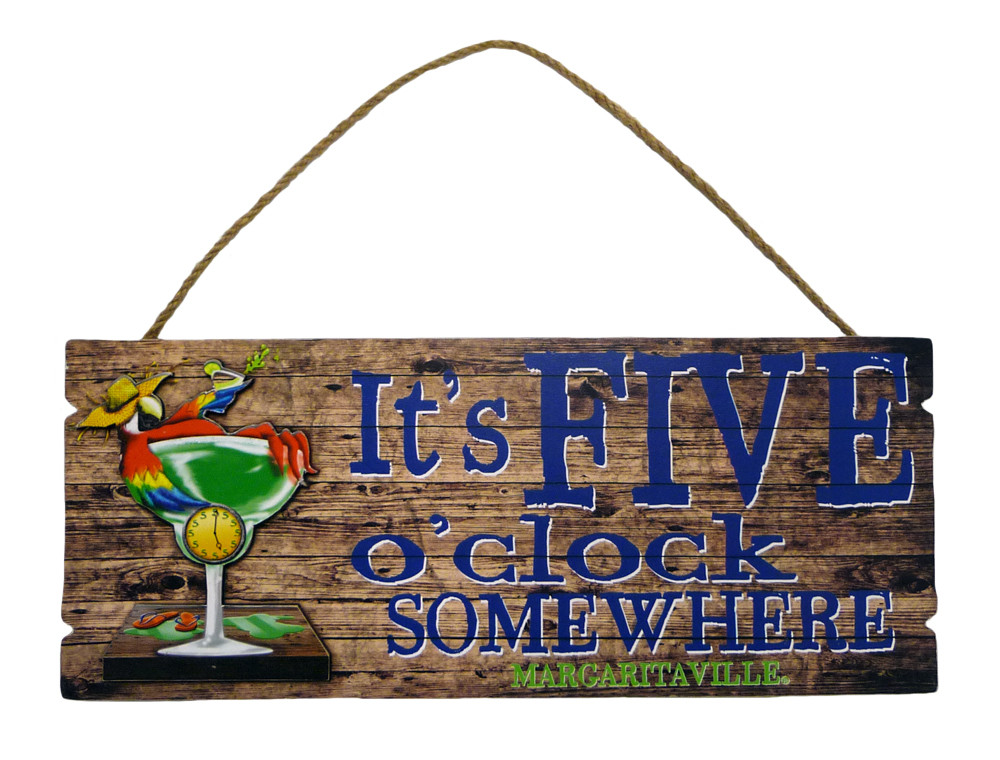 FIVE OCLOCK WALL SIGN