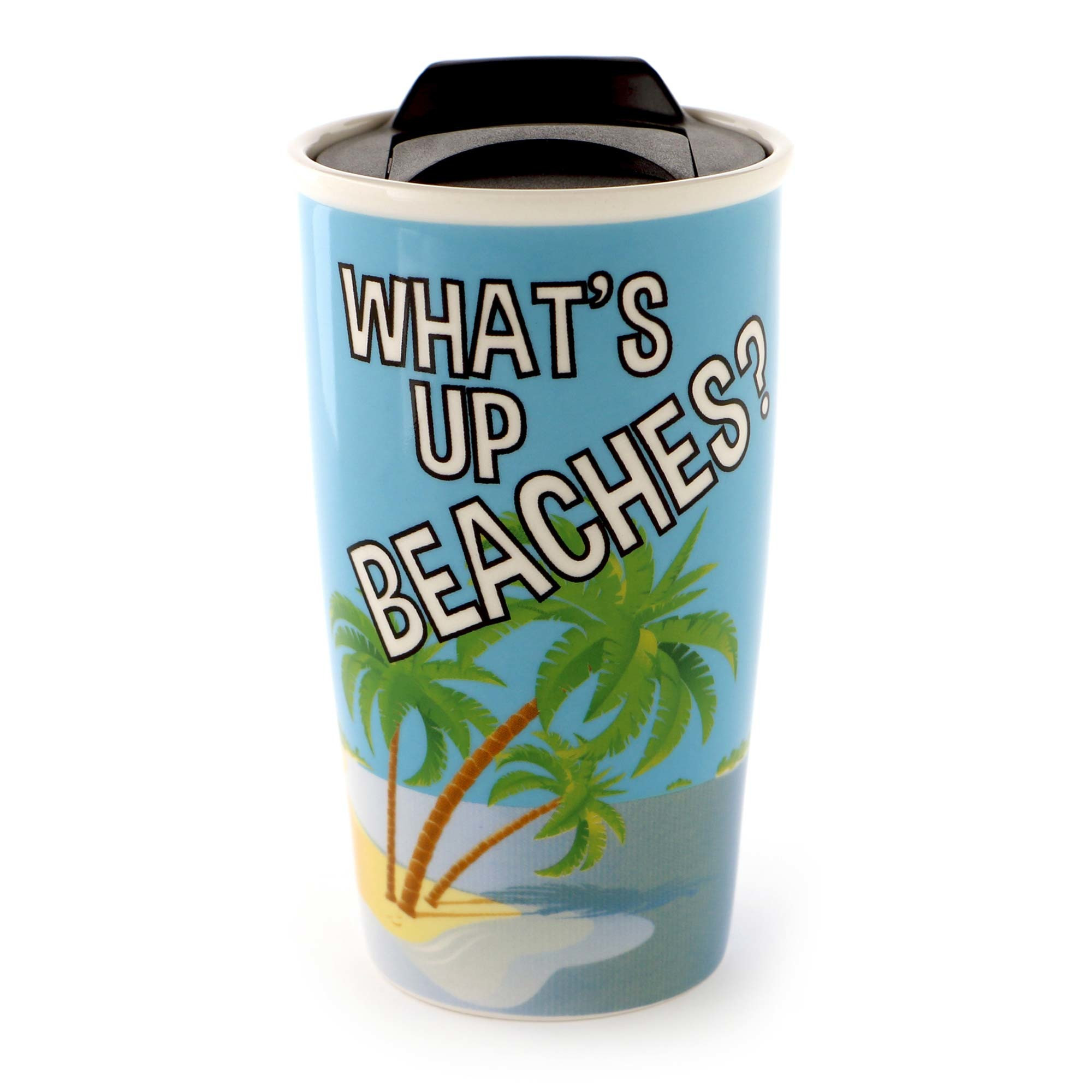 WHAT'S UP BEACHES TRAVEL MUG