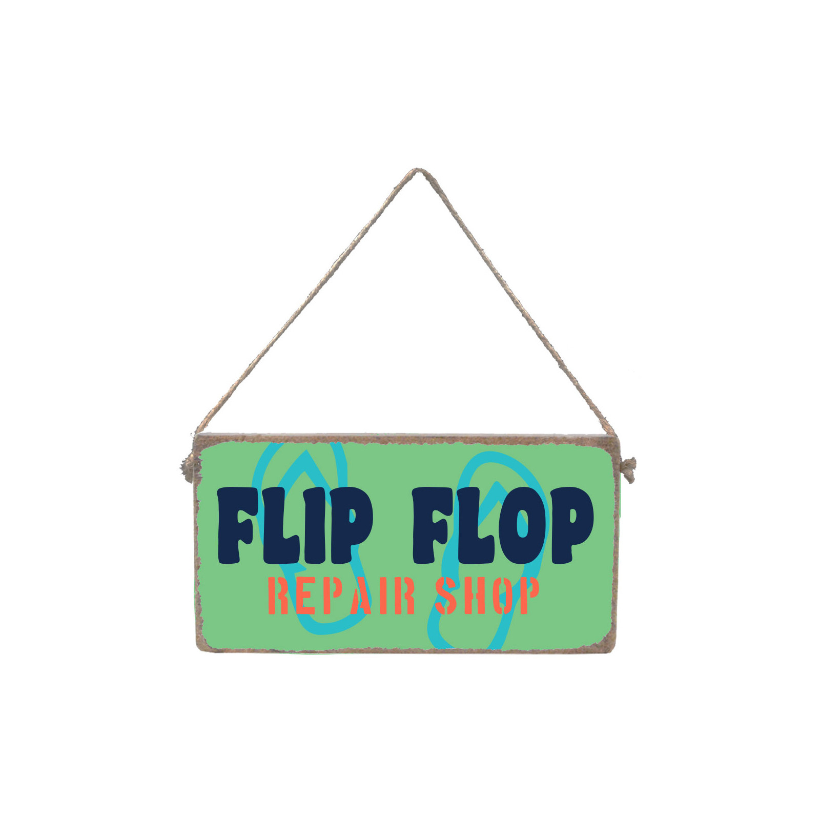 Flip Flop Wood Mini Plank - Multi