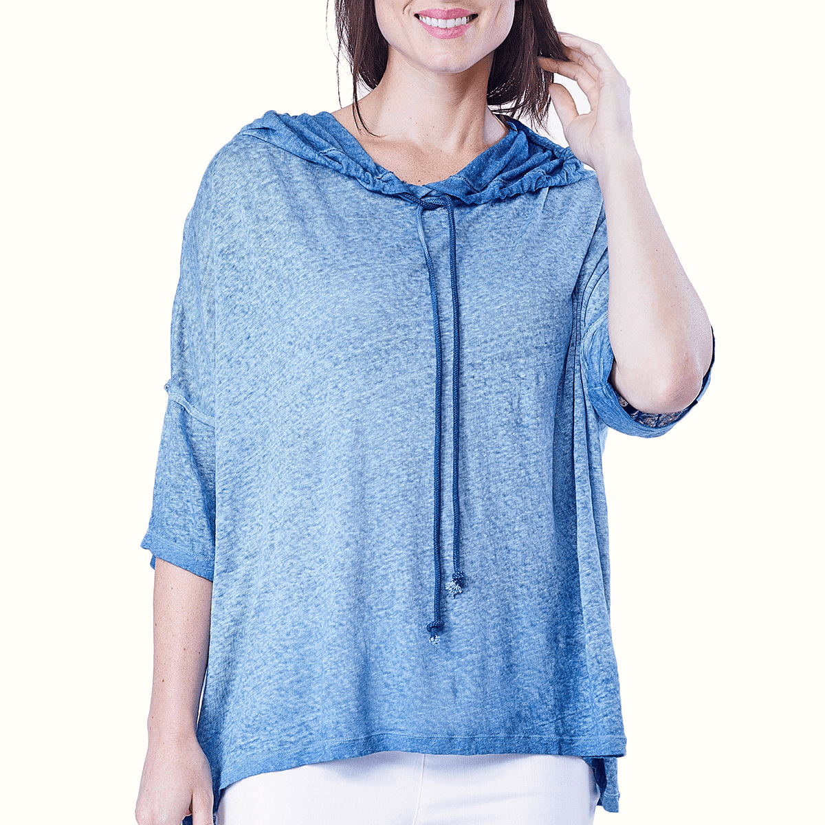 RELAXED LINEN HOODIE