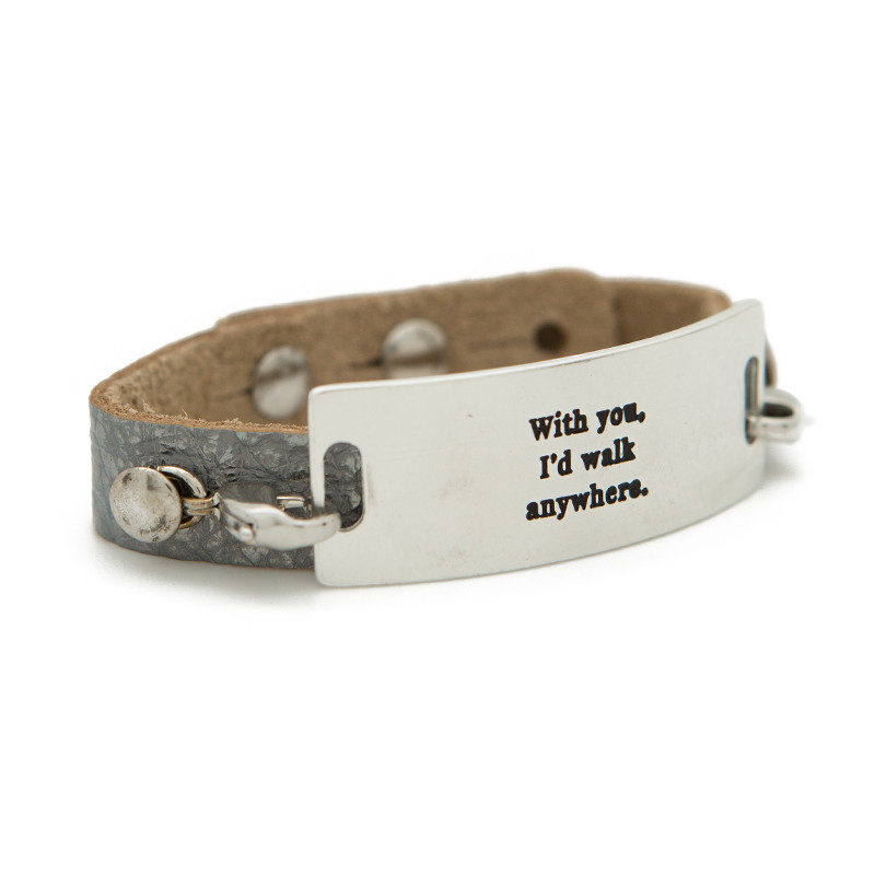 WITH YOU SILVER CUFF BRACELET