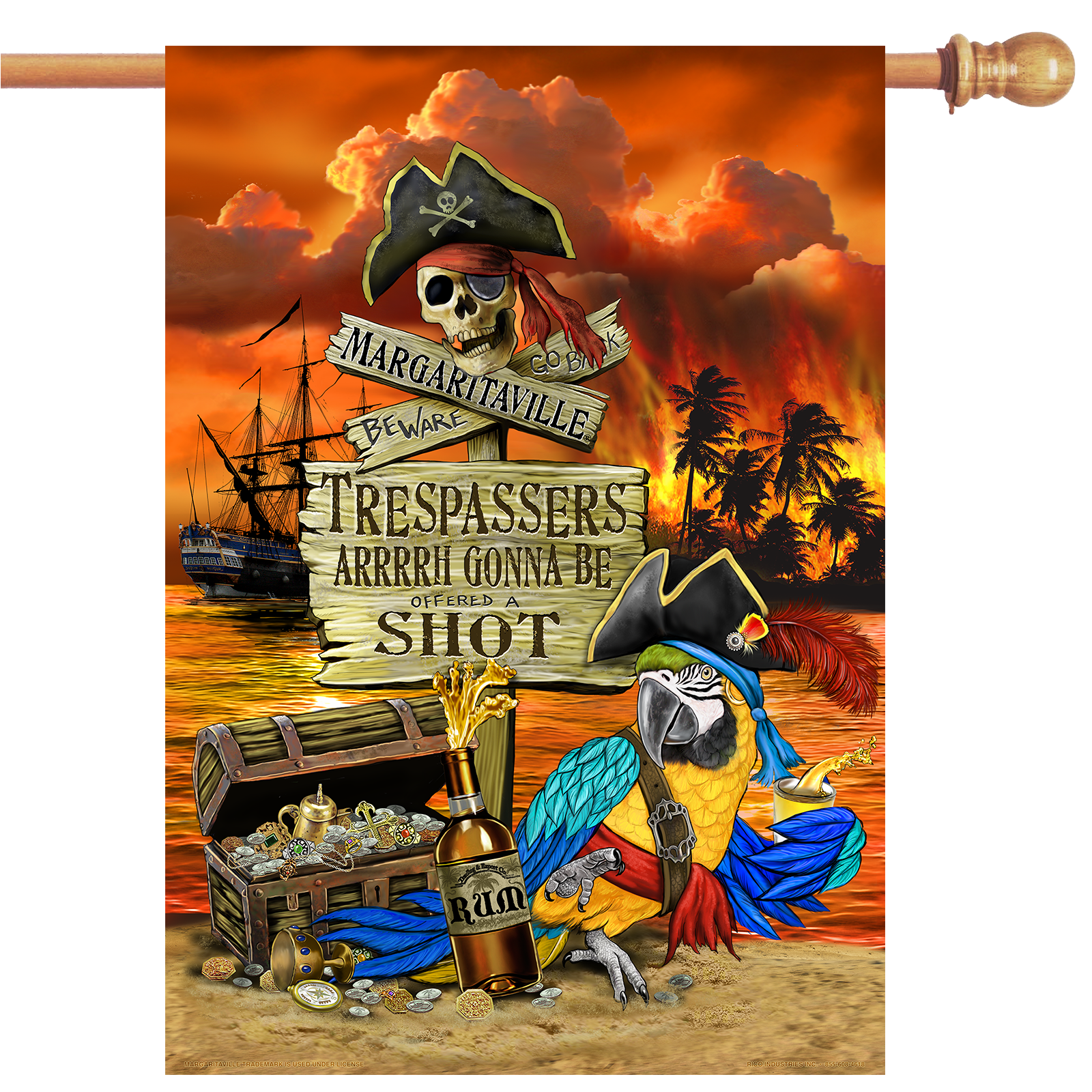 TRESPASSER HOUSE FLAG