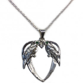 PARROT HEART PENDANT NECKLACE