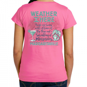 WEATHER IS HERE PREPPY T-SHIRT