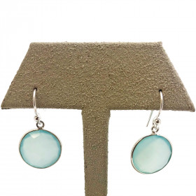 ROUND CHALCEDONY EARRINGS