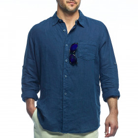 LONG SLEEVE CABANA LINEN SHIRT