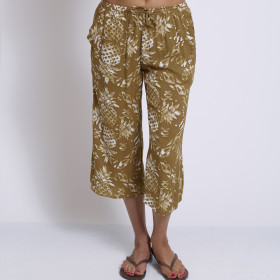 PINEAPPLE CROPPED LOUNGE PANTS