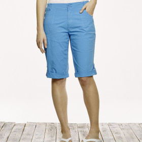 SOLID STRETCH  POPLIN CAPRI
