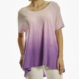 OMBRE DOLMAN TOP W/ BACK SLIT
