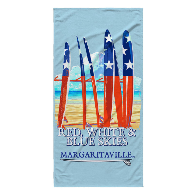 RED WHITE BLUE SKIES TOWEL