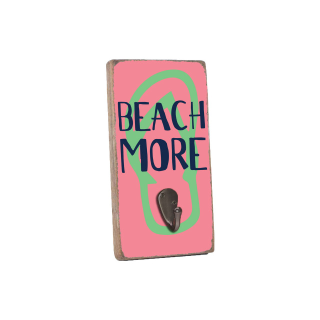 Beach More Wall Hook - Multi-colored
