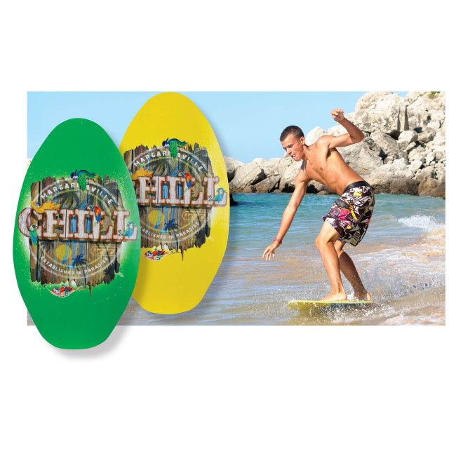 MV YELLOW CHILL WOOD SKIMBOARD