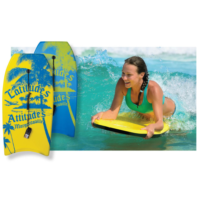 "YELLOW LATITUDE 42"" BODY BOARD"
