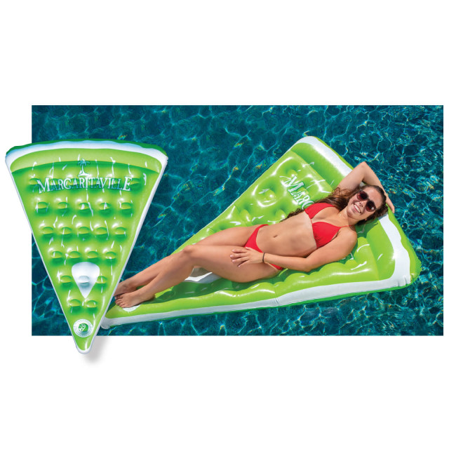 MV LIME WEDGE POOL FLOAT