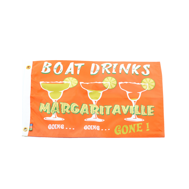 "BOAT DRINKS 2 FLAG- 12"" x 18"""
