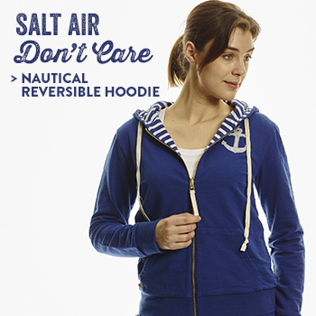 Nautical Reversible Hoodie